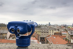 City Zagreb panorama Stock Images