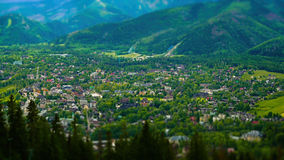 City of Zakopane, Poland. City of Zakopane seen from the top of Gubalowka Stock Image