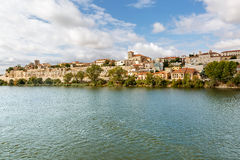 City of Zamora and its shores on a sunny day, Spain Stock Images