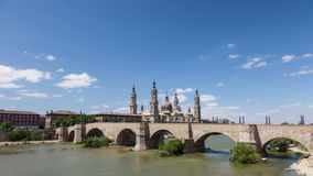 City of Zaragoza, Spain stock footage