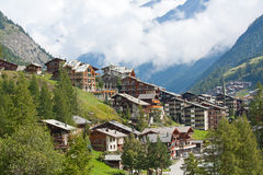 City Zermatt royalty free stock photos