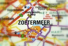 City of Zoetermeer - Netherlands. Zoetermeer is a city in the western Netherlands, in the province of South Holland Europe royalty free stock photos