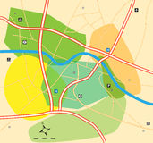 City zone map Royalty Free Stock Photography