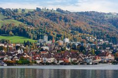 City of Zug Switzerland during Autumn Stock Photos