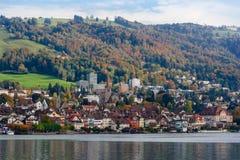 City of Zug Switzerland during Autumn Stock Photos