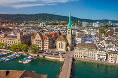 City of Zurich. royalty free stock images