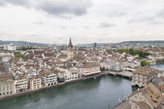 The city of Zurich, Switzerland. Royalty Free Stock Photo