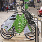 A Citybike Bicycle Sharing System in Liverpool Royalty Free Stock Photo