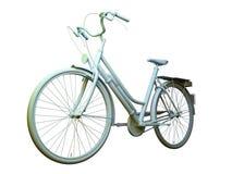 Citybike 3D modell royaltyfri bild