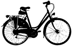 Citybike for woman: Vector Royalty Free Stock Photography