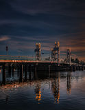 Citybridge Kampen, río IJssel Fotografía de archivo libre de regalías