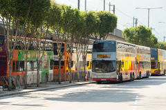 Citybus在机场限制了公共汽车 库存照片