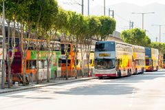 Citybus Limited buses in airport Royalty Free Stock Images