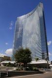 CityCenter的Vdara旅馆在拉斯维加斯 免版税库存图片