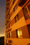 Cityconcept do nascer do sol Foto de Stock Royalty Free