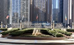 Cityfront Plaza Stock Photo