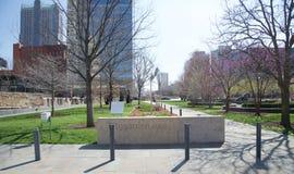 Citygarden公园,街市圣路易斯,密苏里 库存照片