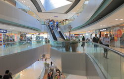 Citygate outlet shopping mall Hong Kong. People visit Citygate outlet shopping mall in Hong Kong Stock Photo