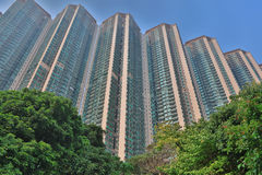 Citygateafzet in Tung Chung, Hong Kong Stock Foto