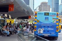 CityGlider巴士-布里斯班澳大利亚 免版税库存照片