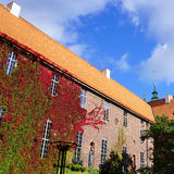 Cityhall architecture and green wall in Stockholm Royalty Free Stock Image