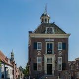 Cityhall av holländaren stärkte staden av Nieuwpoort Royaltyfri Bild