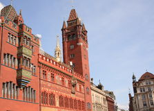 Cityhall in Bazel Royalty-vrije Stock Foto