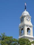 Cityhall clock. Close up on the cityhall clock tower, maryborough, QLD Stock Image
