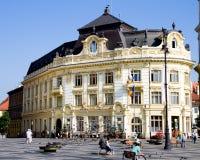 Cityhall di Sibiu Fotografia Stock