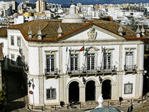 Cityhall of Faro. Portugal located on the old part of the town Stock Images