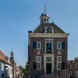 Cityhall Holenderski warowny miasto Nieuwpoort Obraz Royalty Free
