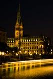 Cityhall na noite Imagens de Stock