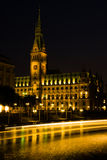cityhall noc Obrazy Stock