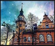 Cityhall. Rauma Cityhall Fantasy Art Europe Royalty Free Stock Image
