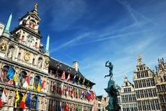 Cityhall van Antwerpen stock fotografie