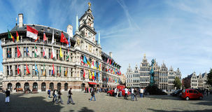 Cityhall van Antwerpen Royalty-vrije Stock Foto