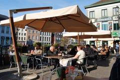 Citylife在跟特,比利时 库存照片