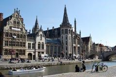 Citylife在跟特,比利时 免版税图库摄影
