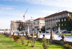 CityLife building site, piazza Giulio Cesare Royalty Free Stock Photos