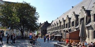 Citylife em Ghent, Bélgica foto de stock
