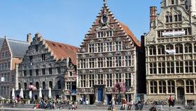 Citylife em Ghent, Bélgica imagem de stock