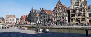 Citylife in Gent, België Stock Afbeeldingen