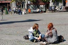 Citylife in Gent, België Stock Foto's