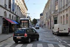 Citylife in Gent, Belgien Lizenzfreies Stockfoto