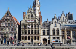 Citylife in Ghent,Belgium Royalty Free Stock Photography