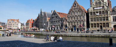Citylife in Ghent,Belgium Stock Images
