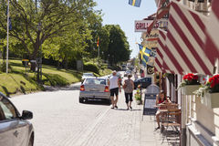Citylife in Granna, Sweden Stock Photo
