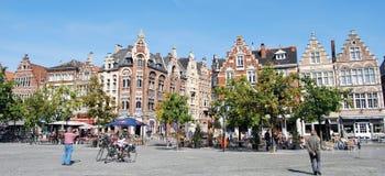 Citylife i Ghent, Belgien Royaltyfri Bild