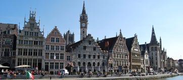 Citylife i Ghent, Belgien Arkivfoton
