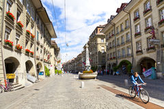 Citylife in the Kramgasse, Bern Stock Photos